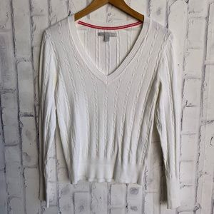 Old Navy Cable Knit V Neck Thin Layering Sweater